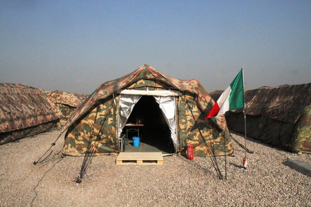 Il campo italiano ad Erbil