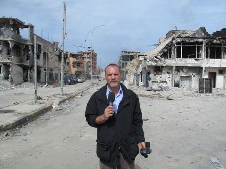 Ottobre 2011: tra i primi giornalisti ad entrare a Sirte